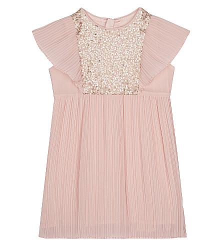BILLIE BLUSH Sequin pleat dress 6-36 months (Pale pink