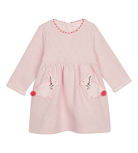 BILLIE BLUSH Cotton bunny dress 6-36 months (Pink