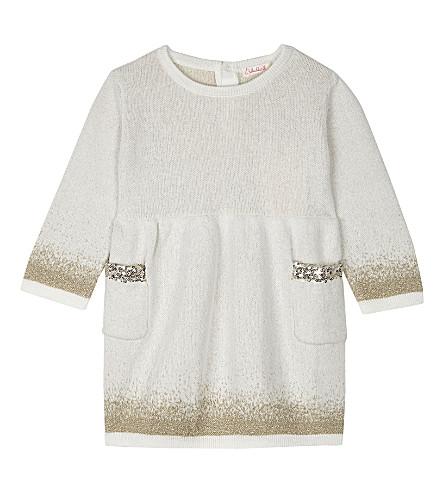 BILLIE BLUSH Glitter and sequin cotton dress 6-26 months (Cream
