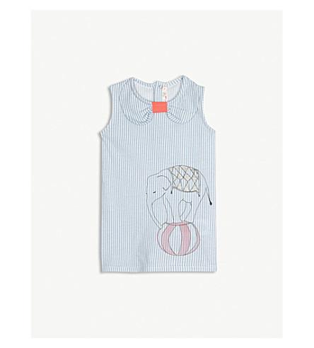 BILLIE BLUSH Glitter circus sleeveless cotton dress 6-36 months (Blue