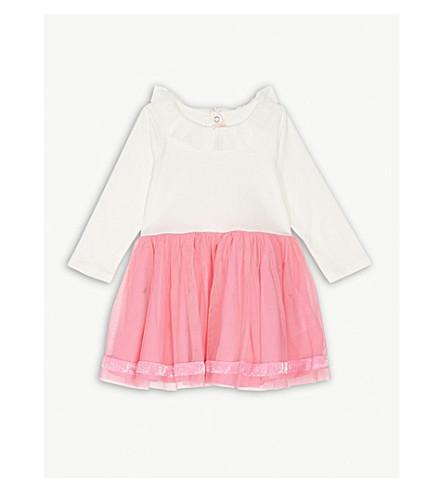 BILLIE BLUSH 竖起衣领棉裙裙3月-3 年 (白色/粉红色