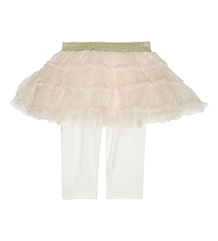 BILLIE BLUSH Mesh cotton skirt and leggings 6-36 months (Pink
