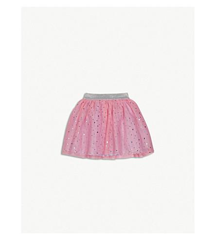BILLIE BLUSH Sequinned glitter waistband mesh tutu skirt 9-36 months (Pink