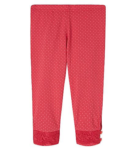 BILLIEBLUSH Polka dot leggings 3-36 months (Fuschia