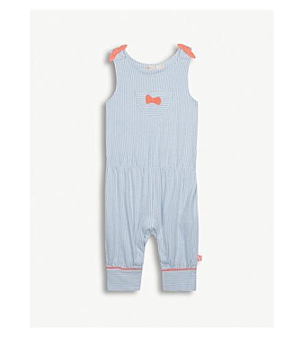BILLIE BLUSH Striped cotton jumpsuit 6-36 months (Blue