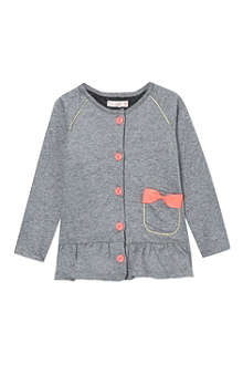 BILLIE BLUSH Bow pocket frilly cardigan 3-36 months