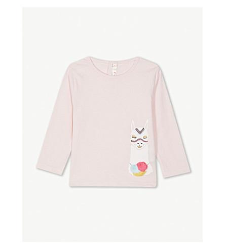 BILLIE BLUSH 猫在帽子棉 T 恤 6-36 月 (玫瑰 + 粉红色