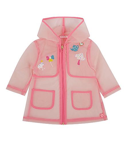 BILLIE BLUSH Teapot applique rain coat 9 months - 3 years (Pink