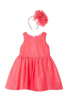 BILLIEBLUSH Glittered dress & headband 1-3 years