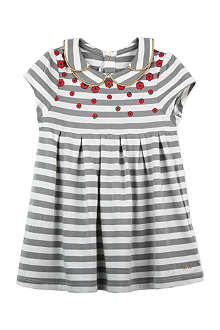 LITTLE MARC Stripe dress with flowers 3-36 months