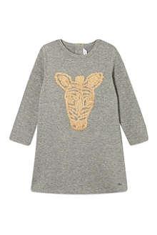 LITTLE MARC Zebra print sweater dress 3-36 months