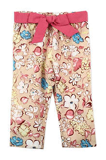 LITTLE MARC Bow waist floral trousers 6 months-3 years