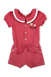LITTLE MARC Bow waist playsuit 3 months-3 years