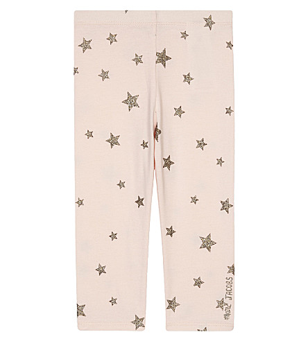 LITTLE MARC Star print leggings 3-36 months (Pale+pink