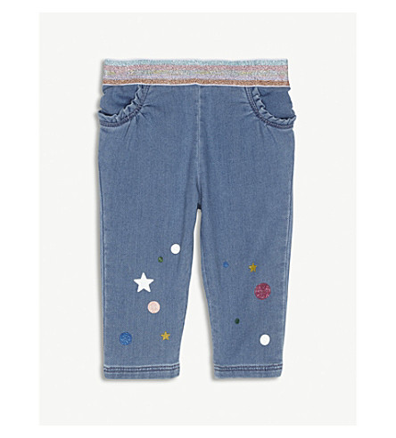 LITTLE MARC Star-print stretch-cotton jeans (Denim
