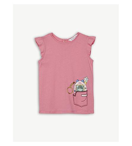 LITTLE MARC Tamagotchi print cotton-blend t-shirt 6-36 months (Pink