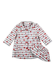 LITTLE MARC Floral stripe raincoat and hat set 9 months-3 years