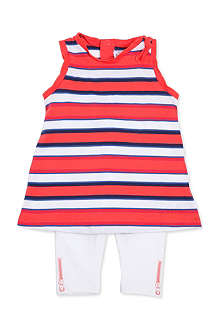 LITTLE MARC Striped dress and leggings set 6-18 months