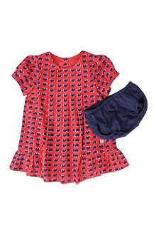LITTLE MARC Heart print dress set 6-18 months