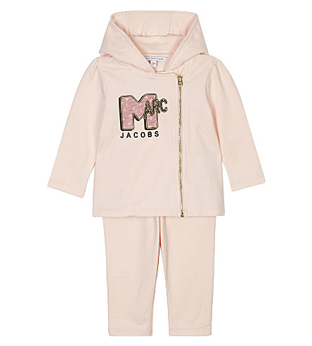 LITTLE MARC Logo two-piece lounge set 6-36 months (Pale+pink