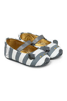LITTLE MARC Stripe mouse shoes 6 months-1 year