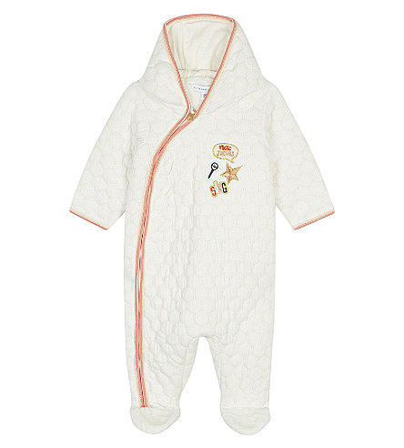 LITTLE MARC Sing waffle-textured baby-grow 3-12 months (White