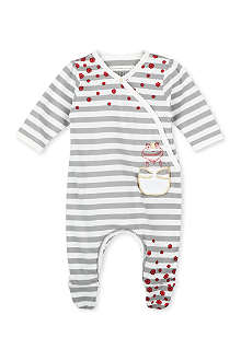 LITTLE MARC Frog pocket stripe romper 1-9 months