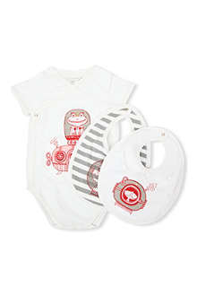 LITTLE MARC Bib and romper gift tin Bodysuit and bib set 1-12 months