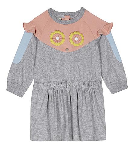 FENDI Floral appliqué dress 6-24 months (F0fxz+grey