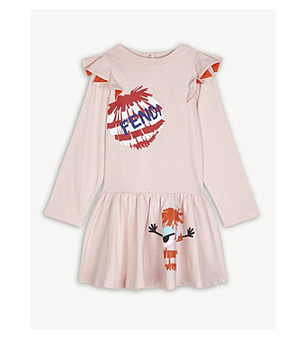 FENDI Cotton dress 6-24 months (Pink