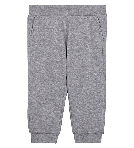 FENDI Logo plaque cotton jogging bottoms 6-24 months (F0ha1+grey