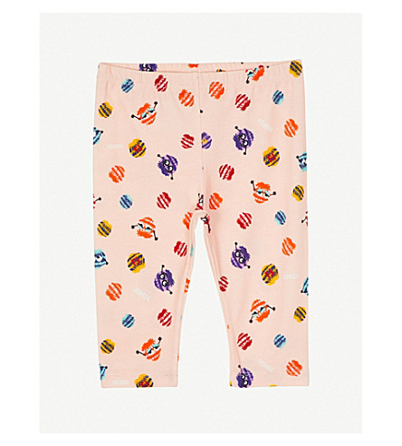 FENDI Monster print stretch cotton leggings 6-24 months (Pink
