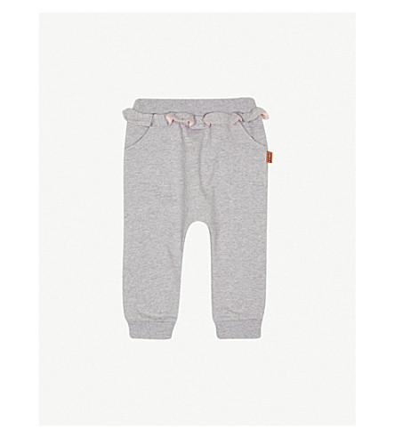 FENDI Ruffled cotton leggings (Grey