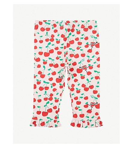 FENDI Cherry print ruffled cotton leggings (Pink