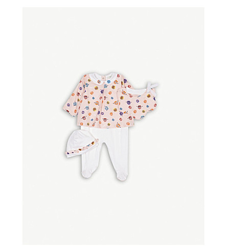 FENDI Monster-print cotton baby set 3-6 months (Pink