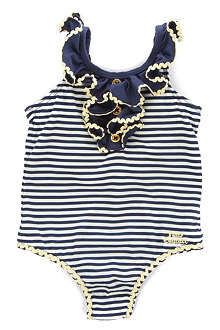 JUICY COUTURE Frill stripe swimsuit 3-24 months