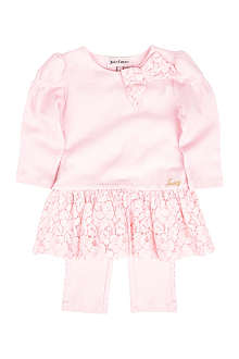 JUICY COUTURE Lace dress and leggings set 3-24 months