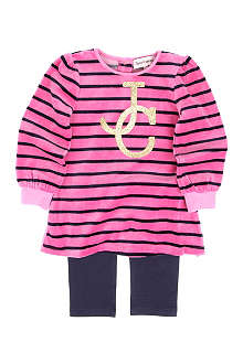 JUICY COUTURE Striped dress and leggings set 3-24 months