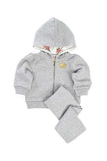 JUICY COUTURE Glitter crown velour tracksuit 0-9 months
