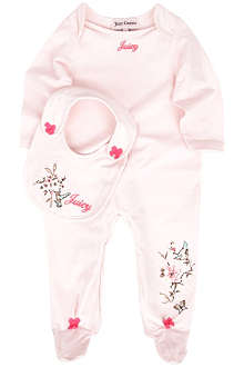 JUICY COUTURE Floral-print jersey baby-grow 0-9 months