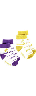 JUICY COUTURE Pack of six striped JC socks 2-5 years