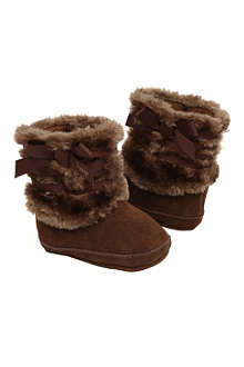 JUICY COUTURE Faux fur booties 3-12 months