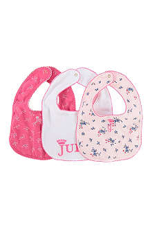JUICY COUTURE Three-pack bib set