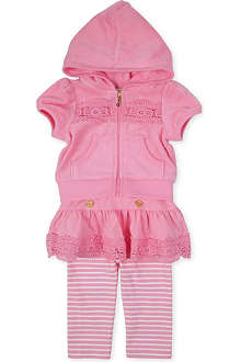 JUICY COUTURE Broderie-detail tracksuit set 3-24 months