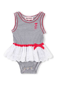 JUICY COUTURE Stripe lace skirt body 0-9 months