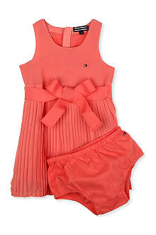TOMMY HILFIGER Pleated dress and briefs set 9-24 months