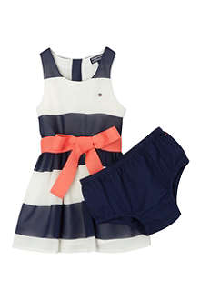 TOMMY HILFIGER Striped Tie Waist Dress 6-24 months