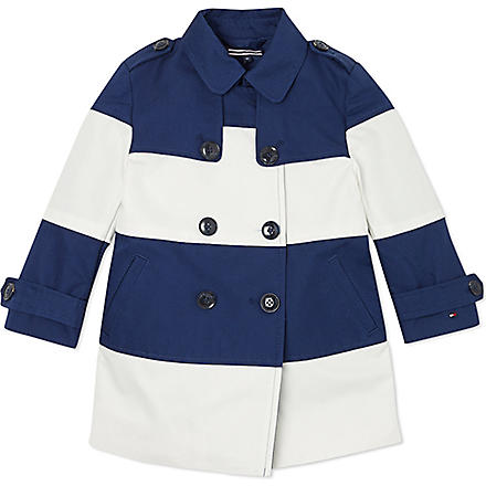 TOMMY HILFIGER Striped trench coat 6-36 months (Navy