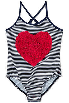 TOMMY HILFIGER Heart detail striped swimsuit 6-36 months