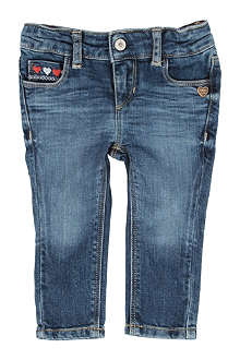 TOMMY HILFIGER Heart embroidered skinny jeans 6 months-3 years